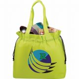 Lime Green Printed Front The Shell Cinch Tote