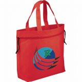 Red Sideways The Shell Cinch Tote