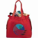 Red Printed The Shell Cinch Tote