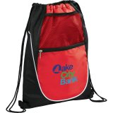Red Printed The Locker Drawstring Cinch Backpack