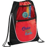 Red The Locker Drawstring Cinch Backpack