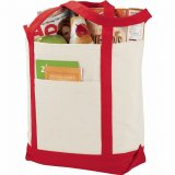 Red Sideways The Casablanca Cotton Boat Tote