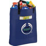 Royal Blue Printed Sideways The Superstar Cooler Tote