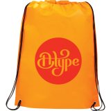Orange Printed Large Champion Drawstring Cinch Backpack