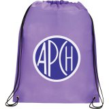 Purple Printed Large Champion Drawstring Cinch Backpack