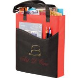 Red w/ Black Trim Sideways The Rivers Pocket Convention Tote