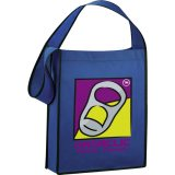 Royal Blue Printed The Cross Town Tote