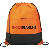 Orange Printed The West Coast Drawstring Cinch Backpack