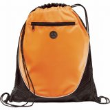 Orange The Peek Drawstring Cinch Backpack