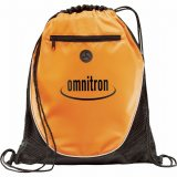 Orange Printed The Peek Drawstring Cinch Backpack