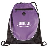 Purple Printed The Peek Drawstring Cinch Backpack