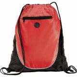 Red The Peek Drawstring Cinch Backpack