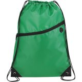 Green Front The Robin Drawstring Backpack