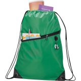 Green The Robin Drawstring Backpack
