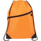 Orange The Robin Drawstring Backpack