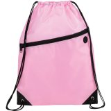 Pink The Robin Drawstring Backpack
