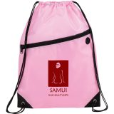 Pink Printed The Robin Drawstring Backpack