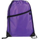 Purple The Robin Drawstring Backpack