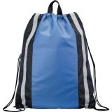 Royal Blue Reflective Drawstring Cinch Backpack