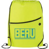 Lime Green Printed The Sidekick Drawstring Cinch Backpack