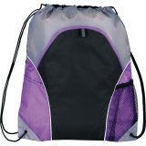 Purple The Marathon Drawstring Cinch Backpack
