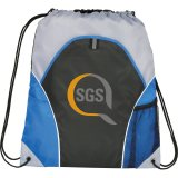 Royal Blue Printed The Marathon Drawstring Cinch Backpack