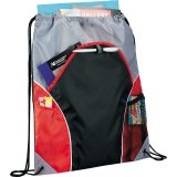 Red Sideways The Marathon Drawstring Cinch Backpack