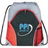 Red The Marathon Drawstring Cinch Backpack