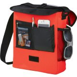 Red Sideways The Oasis Messenger Bag