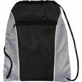 Gray The Funnel Drawstring Cinch Backpack