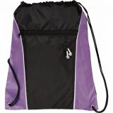 Purple The Funnel Drawstring Cinch Backpack