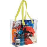 Lime Sideways Rally Clear Stadium Tote