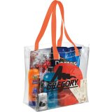 Orange Sideways Rally Clear Stadium Tote
