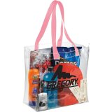 Pink Sideways Rally Clear Stadium Tote