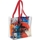 Red Sideways Rally Clear Stadium Tote