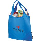 Blue The Bungalow Foldaway Shopper Tote 04