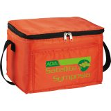orange decorated The Spectrum Budget Cooler Bag - Black