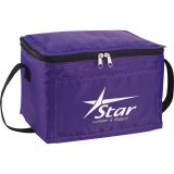 Purple decorated The Spectrum Budget Cooler Bag - Black