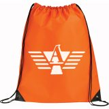 Orange Printed Large Oriole Drawstring Cinch Backpack