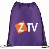 Purple Printed Large Oriole Drawstring Cinch Backpack