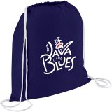 Navy Blue Printed The Condor Cotton Drawstring Cinch