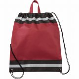 Burgundy The Eagle Drawstring Cinch Backpack