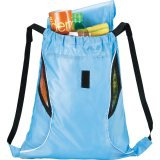 Light Blue Printed The Bumblebee Drawstring Cinch Backpack