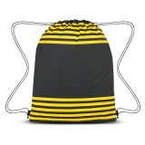 Yellow Striped Drawstring Sports Pack