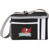 Front view black decorated Game Day Lunch Cooler