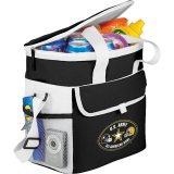 Black Printed Sideways Game Day Sports Cooler