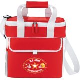 Red Printed Game Day Sports Cooler