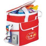 Red Printed Sideways Game Day Sports Cooler