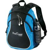 Blue Printed Coil Backpack