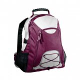 White/Maroon Climber Backpack